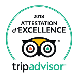 Attestation excellence 2018 Tripadvisor